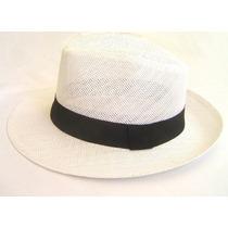 Chapéu Fedora Panamá Unissex Branco