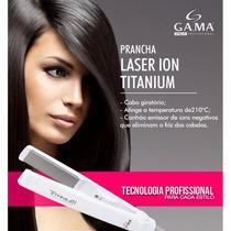 Prancha Ga.ma Italy Laser Ion Titanium + Brinde