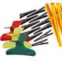 Prendedor Piranha + Clips Para Cabelos - Kit C/ 66 Unidades