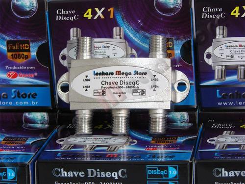 Chave Diseqc 4 X 1 - Resistente A Água - Pronta Entrega