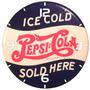 Relógio Parede Decoração Bar Refrigerante Pepsi Cola