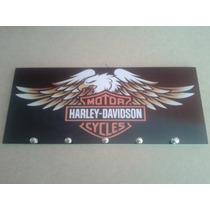 Quadro Decorativo E Porta Chaves Moto Harley Davidson