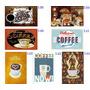 Kit C/ 3 Quadros Placas Decoração Bar Cozinha Café Coffe