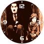 Relógio Parede Retro Vintage Charles Chaplin T. Grande 40 Cm