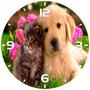 Relógio Parede Decoração Cão Cachorro Gato Gatinho Estimação