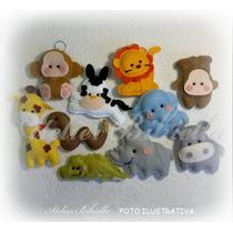 Safari Baby De Corpinho- Kit 10 Lembrancinhas De Feltro