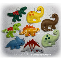 Dinossauros Da Bibiella - Kit C/ 5 Lembrancinhas Em Feltro