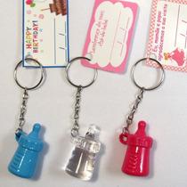 Kit 50 Chaveiros Mamadeira Lembrancinhas Maternidade Com Tag