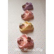 10 Lembrancinhas Maternidade/chá De Bebê Em Biscuit
