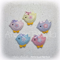 Passarinha Mini Baby Bibiella -kit C/50 Lembrancinhas Feltro
