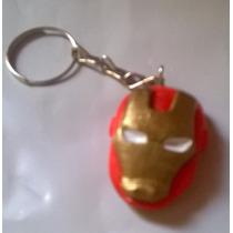 Lembrancinha Homem De Ferro- Chaveiro Em Biscuit