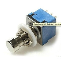 Chave 3pdt 9 Terminais Azul T.bypass Pedal-footswitch