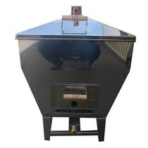 Churrasqueira A Bafo Inox, Assa Até 12 Kg De Carne - Carvão