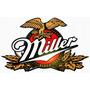 Placa Mdf Corte A Laser Alto Relevo Cerveja Miller 40cm