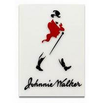 Placa Mdf Corte A Laser Alto Relevo Johnnie Walker White