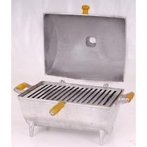 Churrasqueira A Bafo Grande Aluminio Fundido Grosso A Melhor