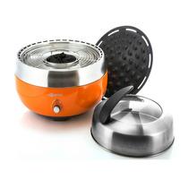Churrasqueira Portátil Smart Grill Aço Inox Laranja Homping