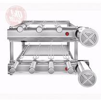 Churrasqueira Inox Gira Grill 7 Espetos - Motores Direitos