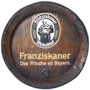 Tampa De Barril Decorativa Grande Cerveja Franziskaner
