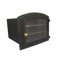 Forno Ferro Fundido Grande Em Ferro Com Porta Vidro Colonial
