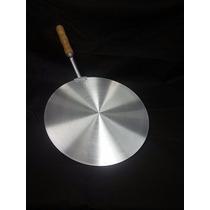 Pá Para Pizza Pegador Aluminio Cabo De Madeira Reforçada