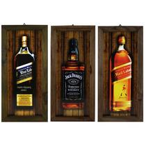 5 Quadros Com Moldura Rústica -whisky-bar-churrasqueira