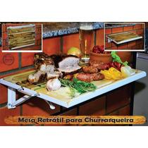Kit Churrasco - Tábula De Carne E Mesa Retrátil