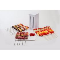 Maquina De Fazer Espetinhos De Carne Churrasco Cozinha 16 Un
