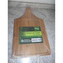 Tabua De Corte Bambu 42x24 Carne Churrasco Cozinha (fp19)