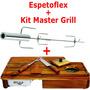 Espetoflex Espeto Giratorio + Tábua Master Grill Garfo Faca