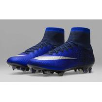 Chuteira Nike Mercurial Superfly Cr7 Fg Azul Edição Limitada