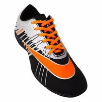 Chuteira Society Nike Mercurial Superfly 2 - Preto E Laranja