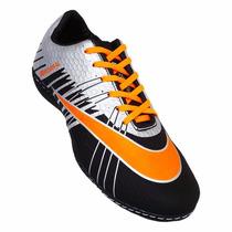 Chuteira Futsal Nike Mercurial Superfly 2 - Preto E Laranja