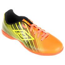 Tênis Umbro Futsal Slice 2 - Laranja Com Amarelo E Preto