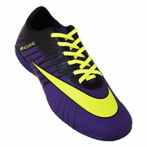 Chuteira Society Nike Mercurial Superfly 2 - Roxo E Amarelo
