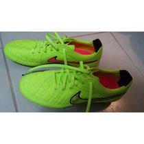 Chuteira Nike Tiempo Premier Fg Couro De Cangurú Tam 40,5