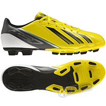 Chuteira Adidas F5 Trx Fg Cravos Amarela E Preta