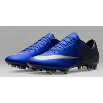 Chuteira Nike Mercurial Vapor X Cr7 Fg Azul- Edição Especial