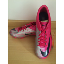 Chuteira Nike Mercurial Rosa - Campo