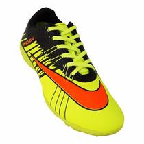 Chuteira Society Nike Mercurial Superfly 2 - Amarelo E Laran