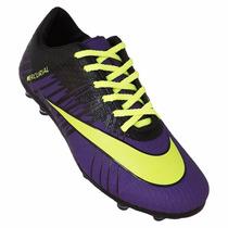 Chuteira Campo Nike Mercurial Superfly 2 - Roxo E Verde