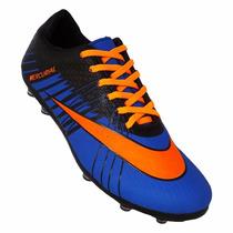Chuteira Campo Nike Mercurial Superfly 2 - Azul E Laranja
