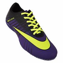 Chuteira Futsal Nike Mercurial Superfly 2 - Roxo E Verde