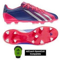 Chuteira Adidas F10 Fg Semi Profissional Rosa E Azul Messi