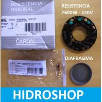 Resistencia Re072 7600w E Diafragma P/ Ducha Cardal Moderna