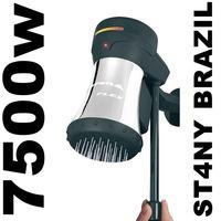 Ducha Corona Flex Blindada Preta Metálica 220v 7500w