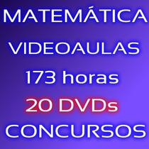 Matemática Para Concursos Ensino Fundamental E Médio 20 Dvds