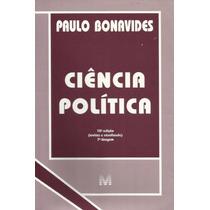 Ciência Política, Paulo Bonavides - 10ª Edição / 1999