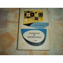 Elementos De Sociologia Samuel Koenig 2° Ed Zahar Editores