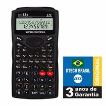 Calculadora Científica Dtc 13s - 240 Funções 3 Anos Garantia